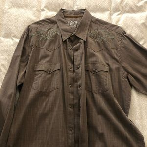 Wrangler Rock 47 Western Cowboy Shirt